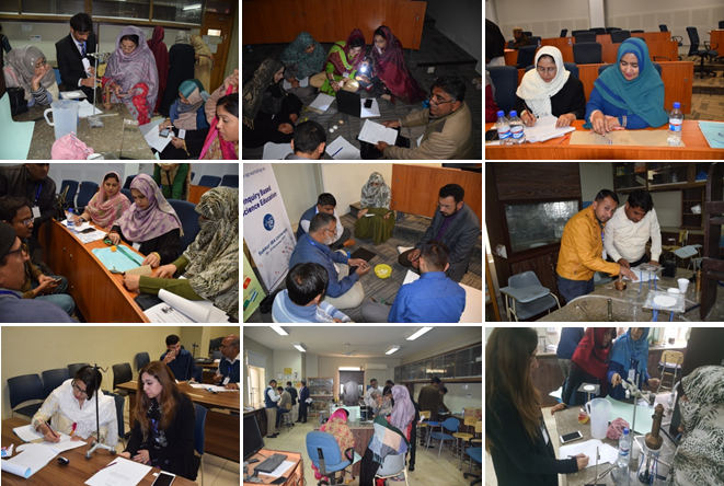 Hands on activities during the Follow up Capacity Building Workshop on Inquiry Based Science Education 25-29 December 2017, Sukkur- Pakistan