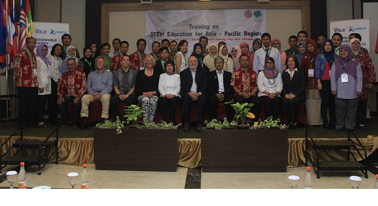 Group photo of the participants during STEM Education Training for Asia-Pacific Region 20-24 November 2017, Bandung- Indonesia