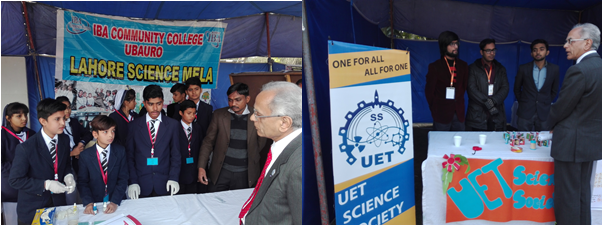President ECOSF Dr. Manzoor Soomro visiting the stalls and interacting with students during the Lahore Science Mela (28-29 Jan 2017)