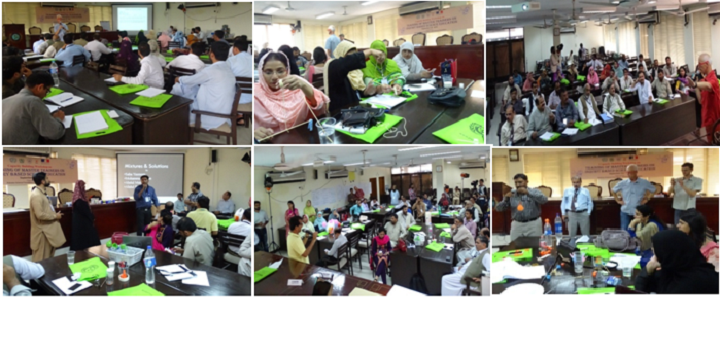 "Hands on activities during the workshop on ""Training of Master Trainers on Inquiry Based Science Education"" jointly organized by ECOSF and PSF held at Islamabad, 5-9 September 2016"