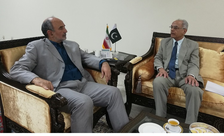President ECOSF made a courtesy call on the Ambassador of Iran to Pakistan H.E. Mr. Mehdi Honardoost  and updated him about the ongoing activities of the Foundation (12 Oct 2018)