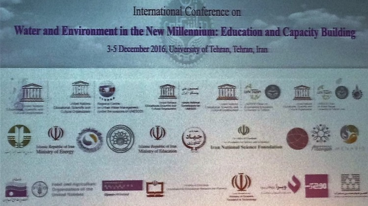 ECOSF Co-organized the International Conference on Water and Environment in the New Millennium: Education and Capacity Building with University of Tehran, German Academic Exchange Services and UNESCO-IHE at University of Tehran- Iran 3-5 Dec. 2016