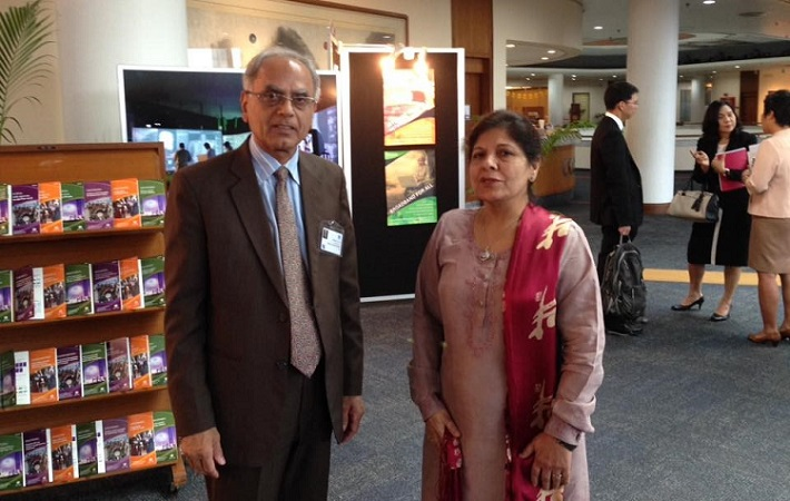 A sideline meeting  between President ECOSF Dr. Soomro and UNESCAP Executive Secretary Dr. Shamshad Akhtar during UNESCAP Committee on ICT & STI, Thailand, Oct. 5-7 2016  to discuss possibilities of closer cooperation in STI & IT in the ECO Region